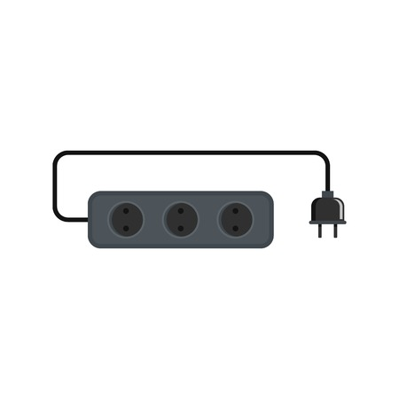Power outlet icon. Flat illustration of power outlet vector icon for web