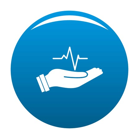 Heartbeat icon. Simple illustration of heartbeat vector icon for any design blue