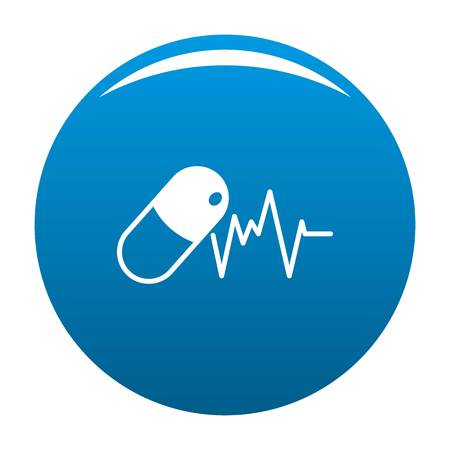 Capsule icon. Simple illustration of capsule vector icon for any design blue Vectores