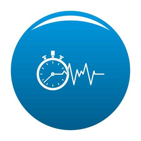 Encephalogram icon. Simple illustration of encephalogram vector icon for any design blue Illustration