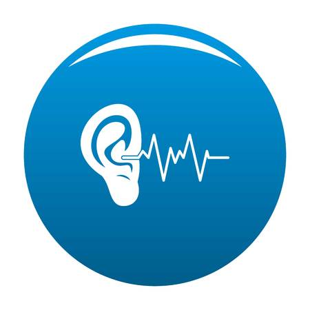 Ear icon. Simple illustration of ear vector icon for any design blue Illustration