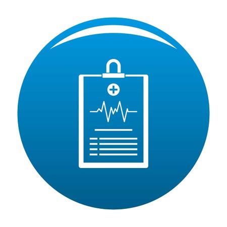Cardiogram on tablet icon. Simple illustration of cardiogram on tablet vector icon for any design blue Illustration