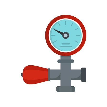 Water pipe icon. Flat illustration of water pipe vector icon for web