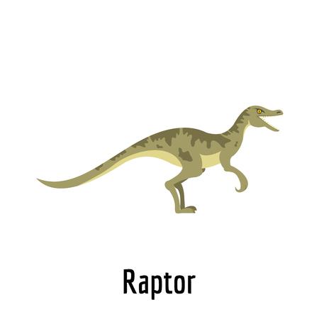 Raptor icon. Flat illustration of raptor vector icon for web.