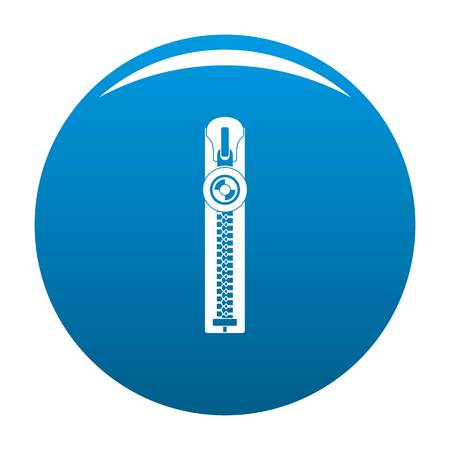 Round zip icon. Simple illustration of round zip vector icon for any design blue