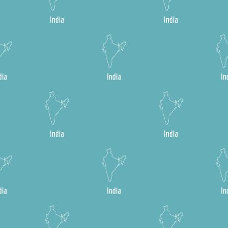 India map thin line. Simple illustration of India map vector isolated on white background 일러스트