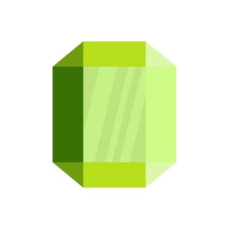 Gem icon. Flat illustration of gem vector icon for web.