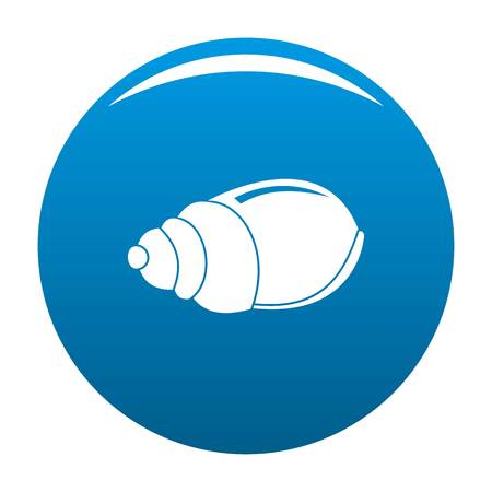Single shell icon. Simple illustration of single shell vector icon for any design blue