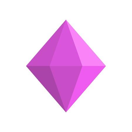 Cone shaped adamant icon. Flat illustration of cone shaped adamant vector icon for web.