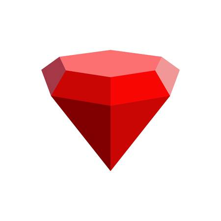 Triangular diamond icon. Flat illustration of triangular diamond vector icon for web.