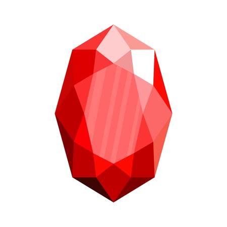 Red adamant icon. Flat illustration of red adamant vector icon for web.