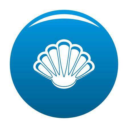 Nice shell icon. Simple illustration of nice shell vector icon for any design blue Illustration