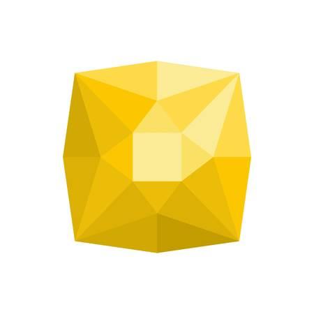 Square diamond icon. Flat illustration of square diamond vector icon for web.