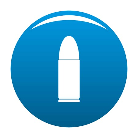 Pistol icon. Simple illustration of pistol vector icon for any design blue