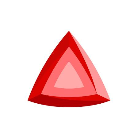 Red diamond icon. Flat illustration of red diamond vector icon for web.