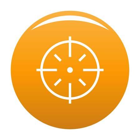 Icône de cible spécifique. Illustration simple de l'icône de vecteur cible spécifique pour toute conception orange