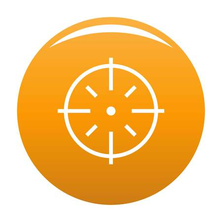 Specific target icon. Simple illustration of specific target vector icon for any design orange