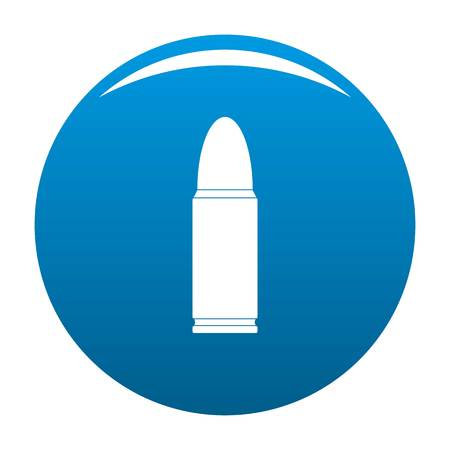 Metal cartridge icon. Simple illustration of metal cartridge vector icon for any design blue Illustration