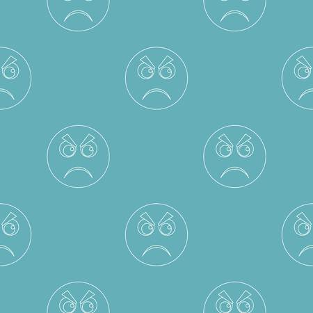 Angry smile pattern vector seamless repeating for any web design