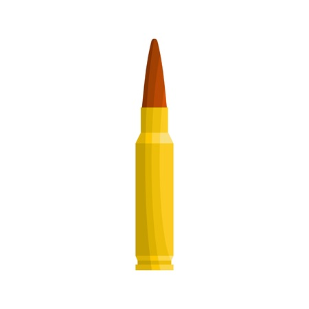 Small bullet icon. Flat illustration of small bullet vector icon for web