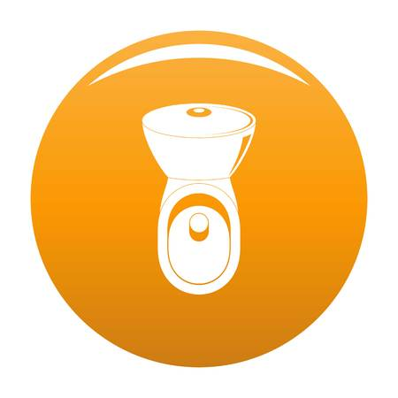 Wc icon. Simple illustration of wc vector icon for any design orange