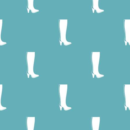 Woman boots pattern vector seamless repeating for any web design