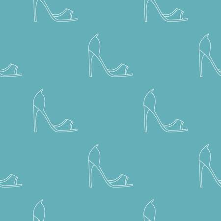 Woman shoes pattern vector seamless repeating for any web design
