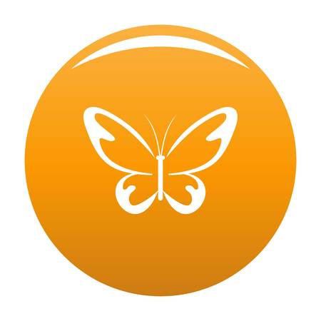 Flying moth icon. Simple illustration of flying moth vector icon for any design orange Illustration