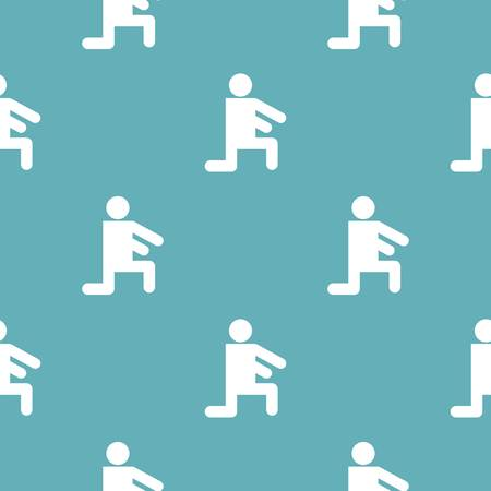 Stick figure stickman pattern vector seamless repeating for any web design  イラスト・ベクター素材
