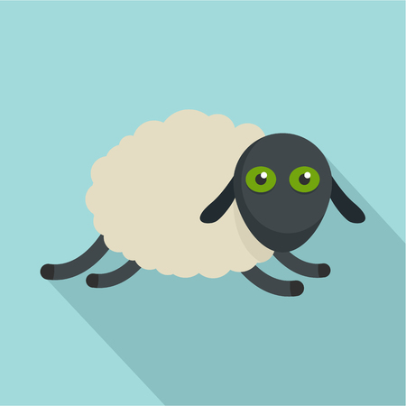 Tired sheep icon. Flat illustration of tired sheep vector icon for web design