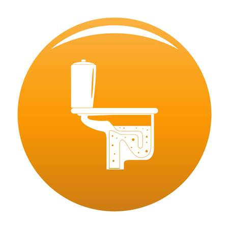 Toilet equipment icon. Simple illustration of toilet equipment vector icon for any design orange
