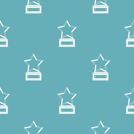 Star award pattern vector seamless repeating for any web design Ilustração