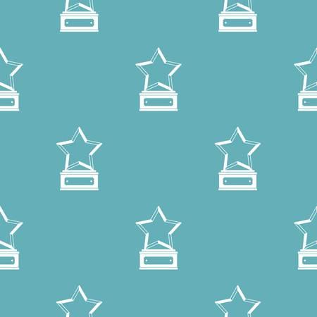 Star award pattern vector seamless repeating for any web design Иллюстрация