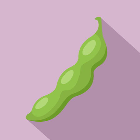 Green peas icon. Flat illustration of green peas vector icon for web design