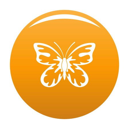 Summer butterfly icon. Simple illustration of summer butterfly vector icon for any design orange