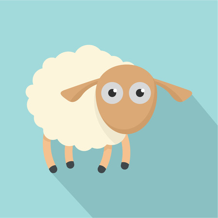 Shocked sheep icon. Flat illustration of shocked sheep vector icon for web design