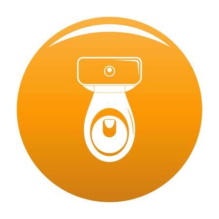Restroom icon. Simple illustration of restroom vector icon for any design orange Illustration