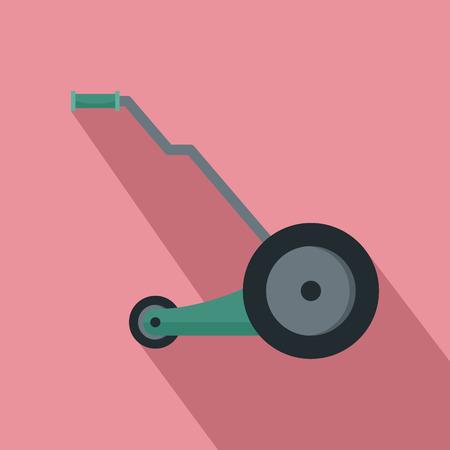 Electric grass cutter icon. Flat illustration of electric grass cutter vector icon for web design Illustration