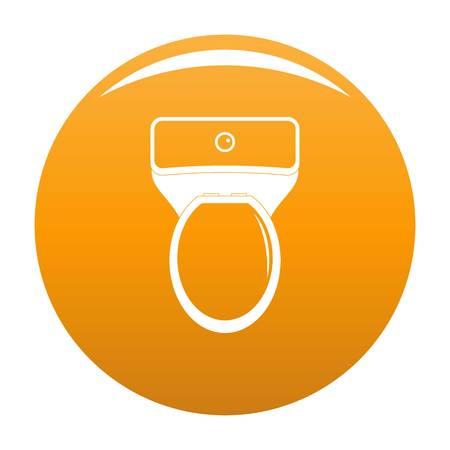 Lavatory icon. Simple illustration of lavatory vector icon for any design orange
