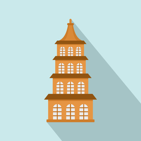 Taiwan window building icon. Flat illustration of taiwan window building vector icon for web design
