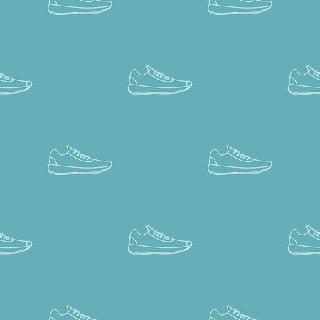 Sneakers pattern vector seamless repeating for any web design