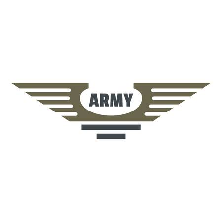 Army icon logo. Flat illustration of army vector icon logo for web design isolated on white background