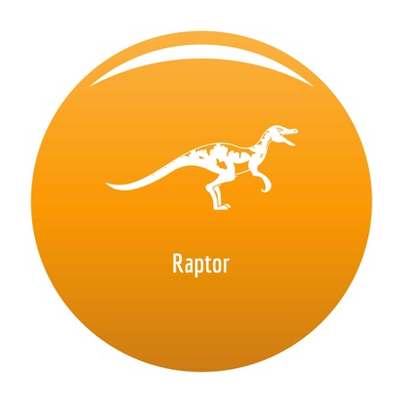 Raptor icon. Simple illustration of raptor vector icon for any design orange