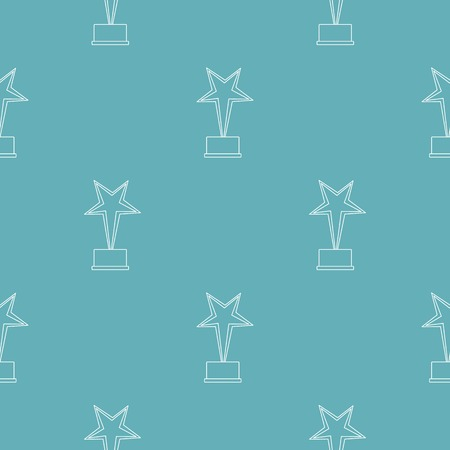 Star award pattern vector seamless repeating for any web design Illustration