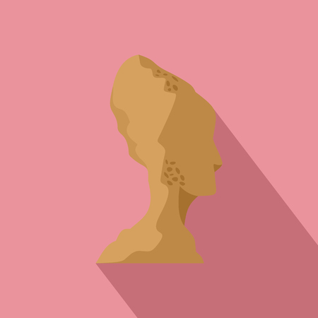 Head of statue icon. Flat illustration of head of statue vector icon for web design Ilustração