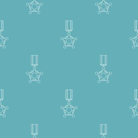 Medal pattern vector seamless repeating for any web design