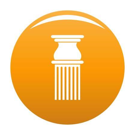 Classical column icon. Simple illustration of classical column vector icon for any design orange Иллюстрация