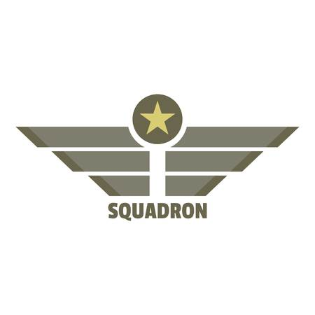 Squadron icon logo. Flat illustration of squadron vector icon logo for web design isolated on white background
