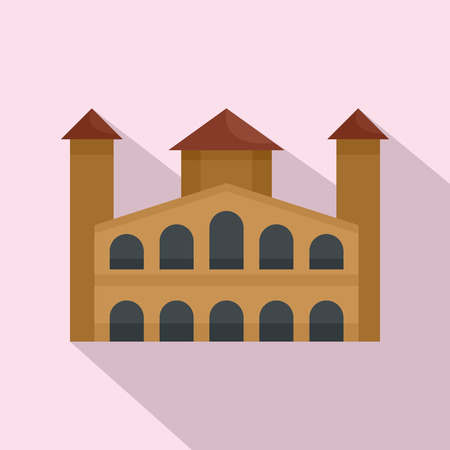 Hystorical building icon. Flat illustration of hystorical building vector icon for web design 矢量图像