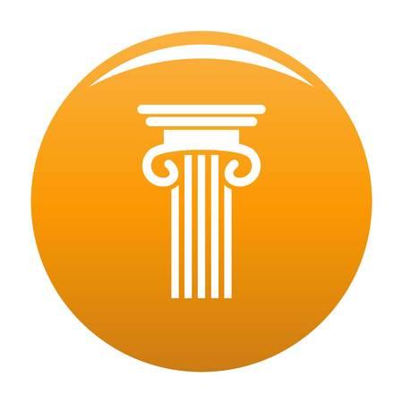 Double columned column icon. Simple illustration of double columned column vector icon for any design orange